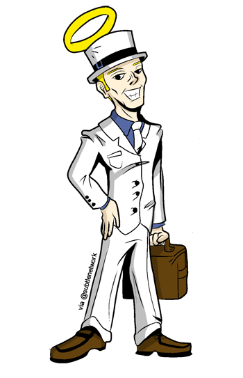 White Hat SEO Cartoon